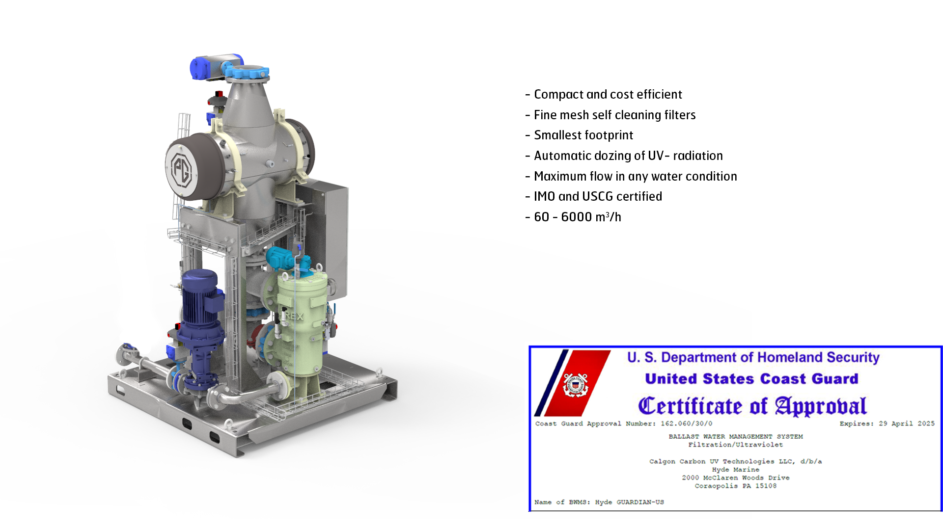Ballast water treatment system – PG Hyde BWTS