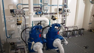 Engine room and utility pumps