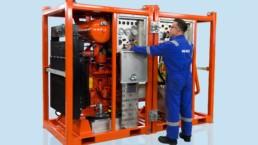 Lightweight pump, vacuum, and compressor units